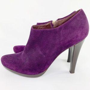 DVF Diane Von Furstenburg Purple Suede Booties 7.5